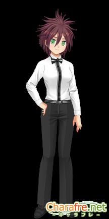 エルツェナのマニッシュ基礎構成。トワイライトスーツ(黒)に和装スーツ(黒)の靴を合わせている